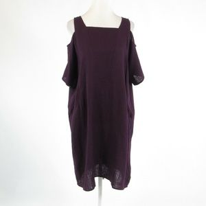 Soft Surroundings purple shift dress PL